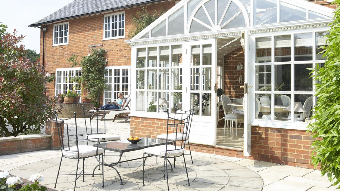 A patio that has been laid by our expert team